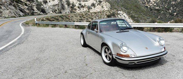 Porsche 911 Restored by Singer front 3/4 view