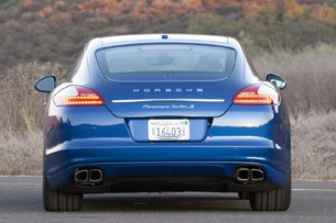 2012 Porsche Panamera Turbo S rear view