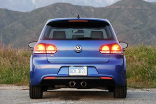 2012 Volkswagen Golf R rear view