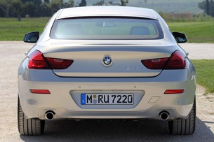 2013 BMW 6 Series Gran Coupe rear view