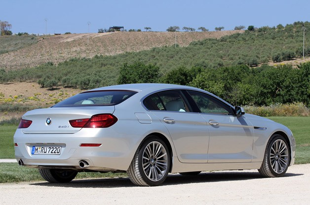 2013 BMW 6 Series Gran Coupe rear 3/4 view