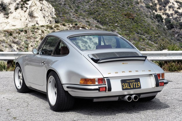 Porsche 911 Restored by Singer rear 3/4 view