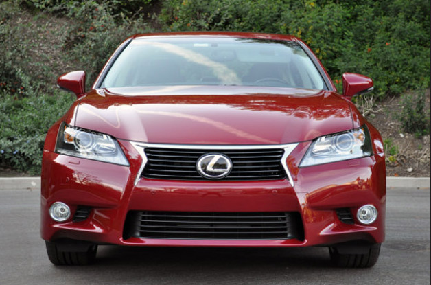 2012 Lexus GS 350 - red - dead-on front view