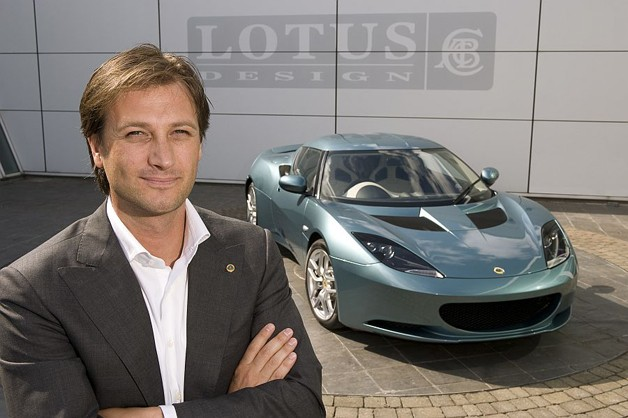 Lotus CEO Dany Bahar with Evora