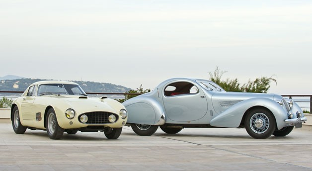 1955 Ferrari 410 Sport Berlinetta and 1938 Talbot-Lago Teardrop Coupe