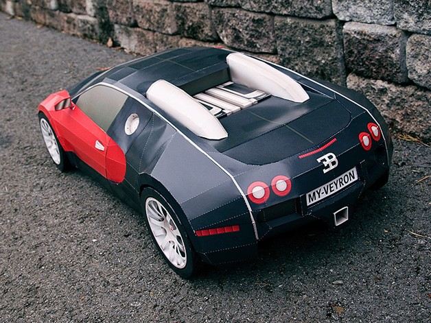 mazdaspeed forums video how to make a giant paper bugatti veyron. Black Bedroom Furniture Sets. Home Design Ideas