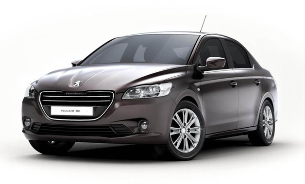 2012 Peugeot 301 - front three-quarter studio view