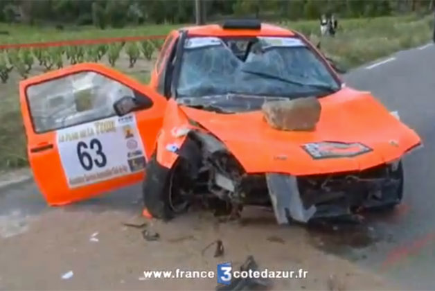 Rally car kills two