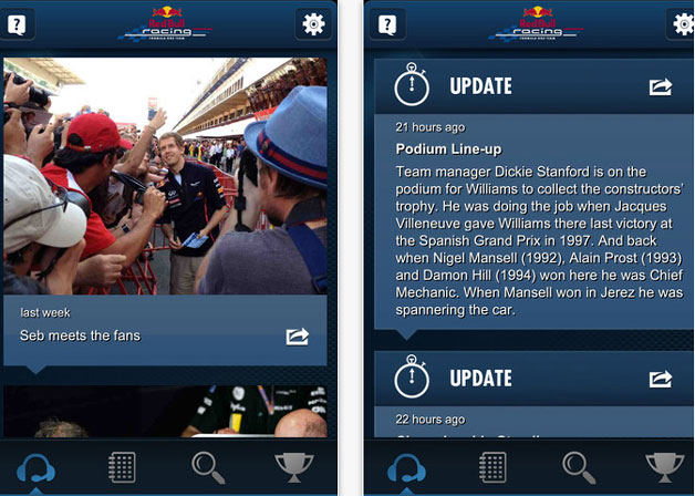 Red Bull Racing Spy app screencap