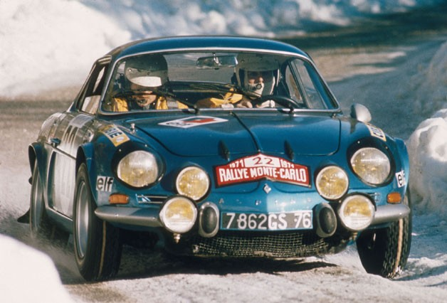 Renault Alpine A110 in Monte Carlo Rally