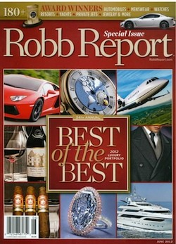 Robb Report Best of the Best 2012