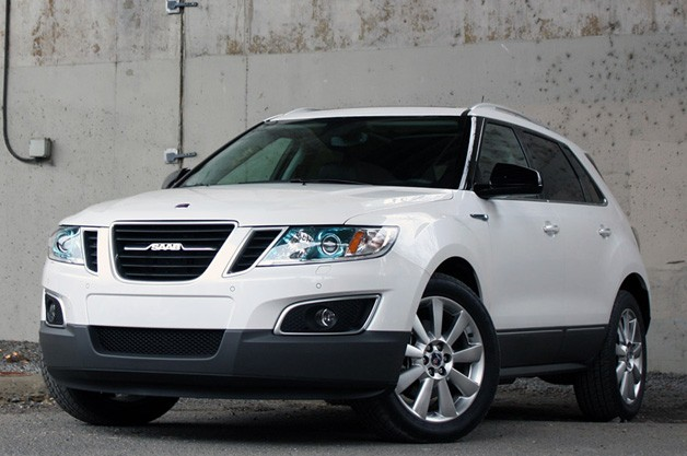 2011 Saab 9-4X - white - front three-quarter view