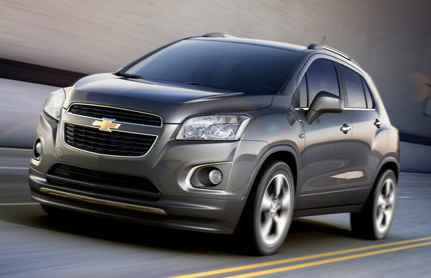 Chevrolet Trax crossover - front three-quarter dynamic image