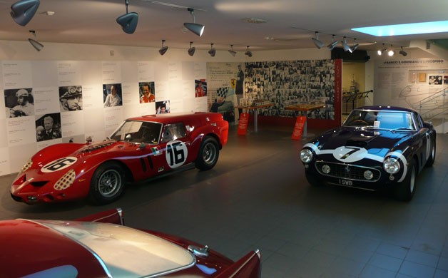 Ferrari 250 GT SWB and Breadvan at Ferrari Museum