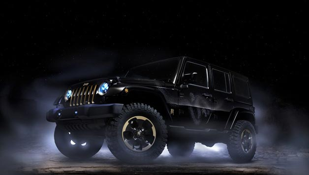 black jeep wrangler dragon concept