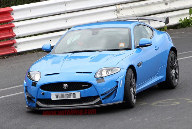 Jaguar XKR-S Track Edition - spy shots - blue