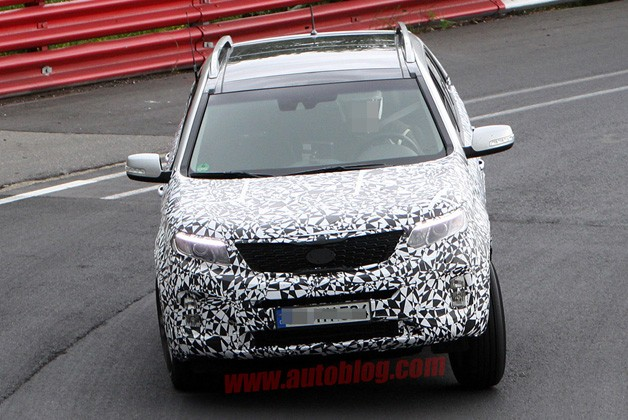 Kia Sorento prototype testing on Nurburgring