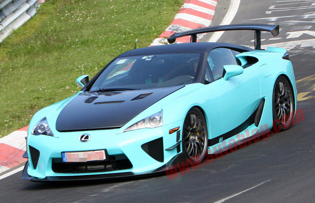 Lexus LFA spotted testing on 'Ring - Is this the Final Edition?