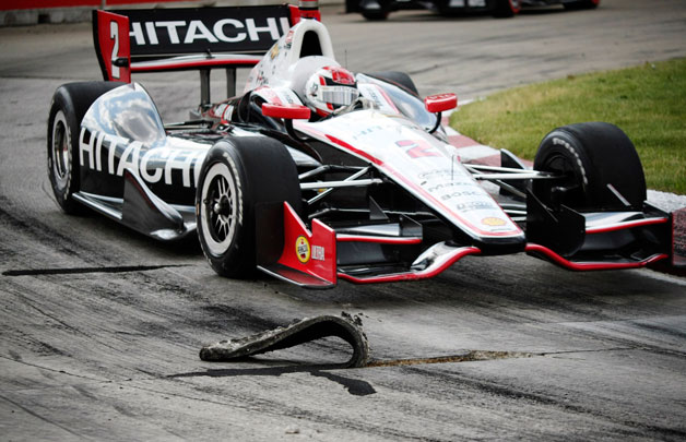 2012 Detroit Belle Isle Grand Prix - pavement separation