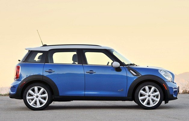2011 Mini Countryman - AB long term car - profile against sunset