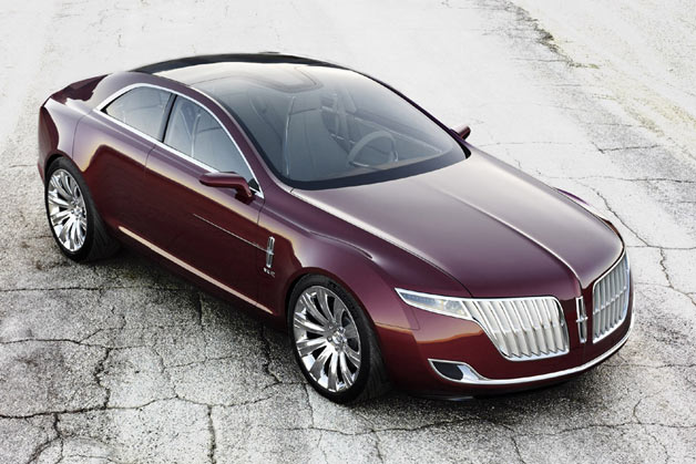 2007 Lincoln MKR Concept  - overhead front three-quarter view, static