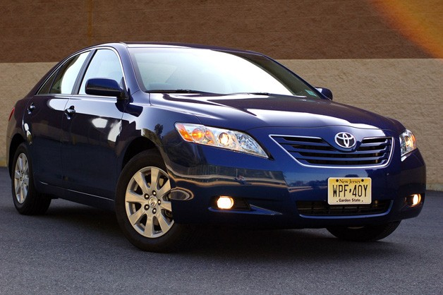 2009 Toyota Camry - blue - front three-quarter view