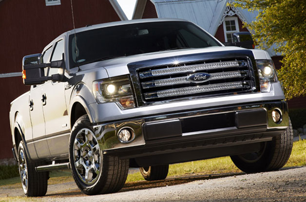 2013 Ford F-150 pickup - front three-quarter view