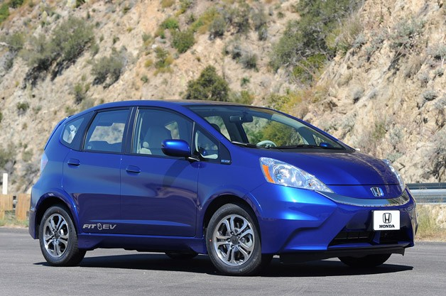 2013 Honda Fit EV - front three-quarter view, static