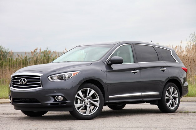 2013 Infiniti JX35 - front three-quarter view
