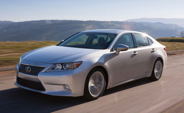 2013 Lexus ES - silver - front three-quarter view, dynamic