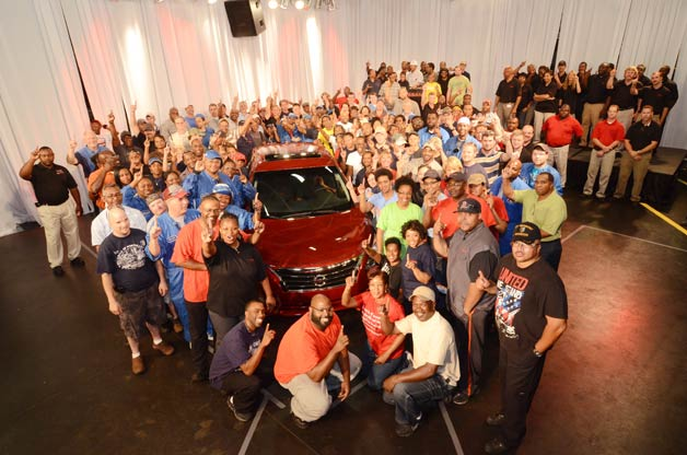 2013 Nissan Altima goes into production in Canton, Miss.