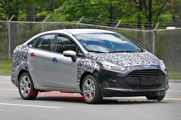 2014 Ford Fiesta spotted with light camo - front three-quarter view