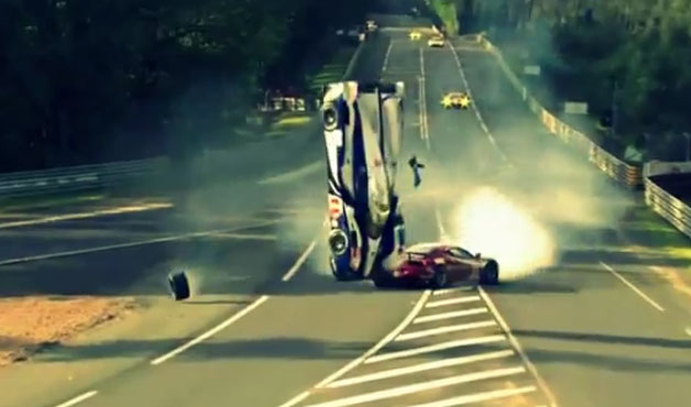 Anthony Davidson of Toyota's terrifying Le Mans wreck