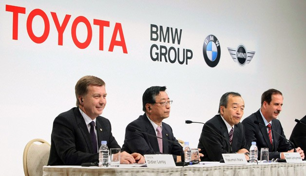 Toyota and BMW announce joint-venture technology agreement at press conference