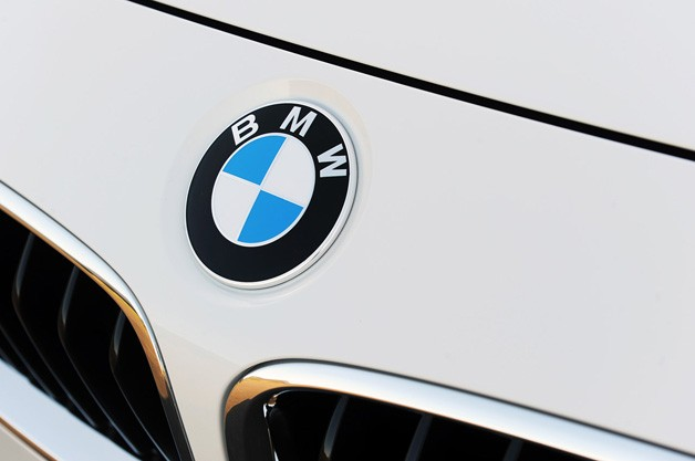 BMW Emblem on white background