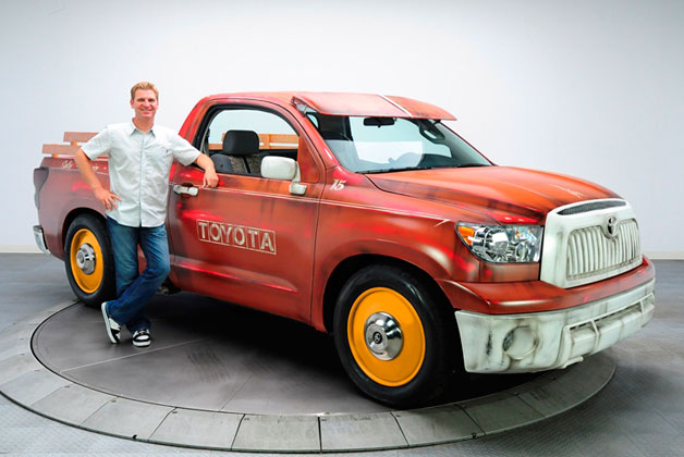 Old timey Toyota Tundra being auctioned for charity in Orange County