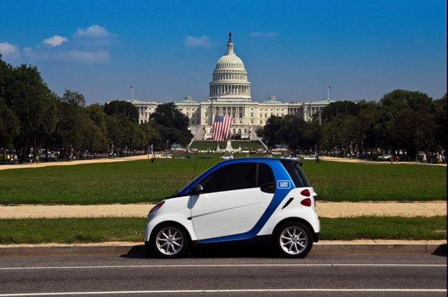 Car2Go Smart For Two in front of Capitol