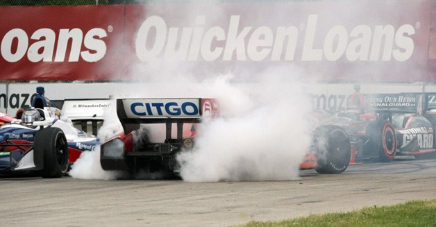 Crash at the 2012 Detroit Belle Isle Grand Prix