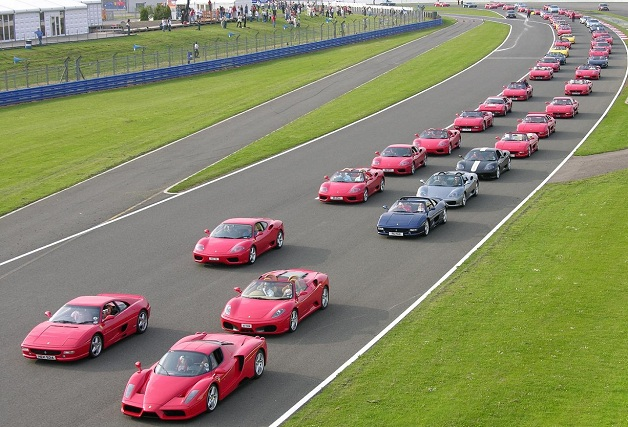 Ferrari parade at Silverstone