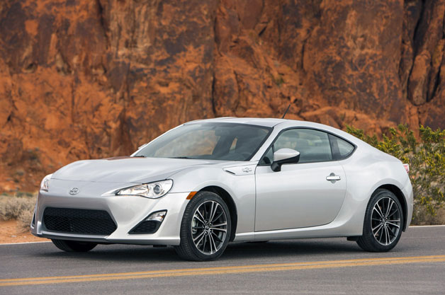 2013 Scion FR-S - front three-quarter static view, silver