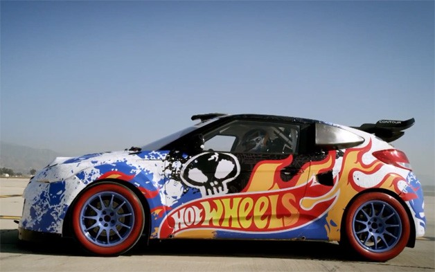 hot wheels has chosen the hyundai veloster as the chariot of choice