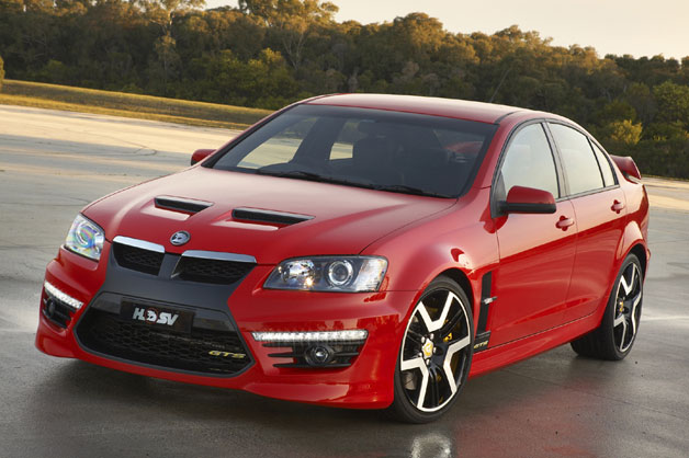 HSV E Series 2 lineup gallery - red, front three-quarter view sedan