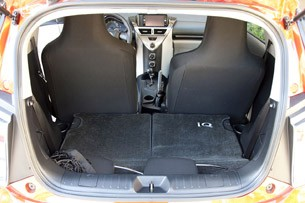 2012 Scion iQ rear cargo area