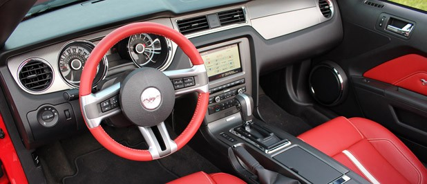 2013 Ford Mustang GT Convertible interior