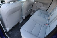 2013 Honda Fit EV rear seats