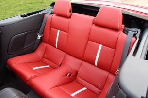 2013 Ford Mustang GT Convertible rear seats