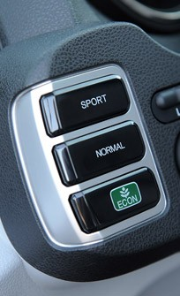 2013 Honda Fit EV drive mode controls