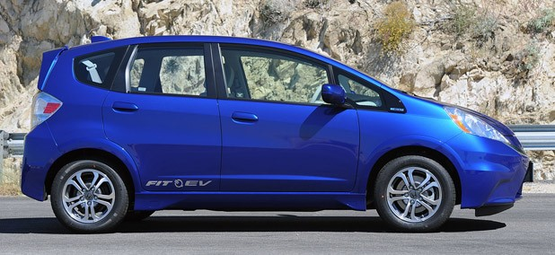 2013 Honda Fit EV side view
