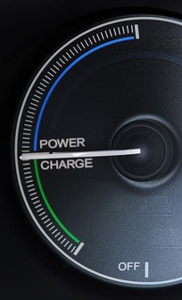 2013 Honda Fit EV power/charge meter