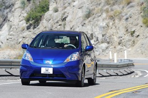 2013 Honda Fit EV driving
